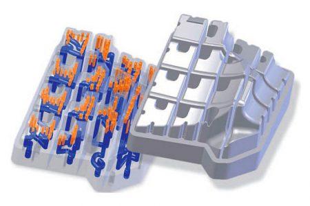 conesty-Werkzeuge: dreidimensional temperierter Kern